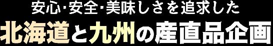 手作りで提案する 北海道と九州の産直品企画